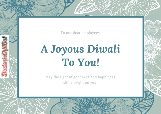 A joyous Diwali to you - greeting card