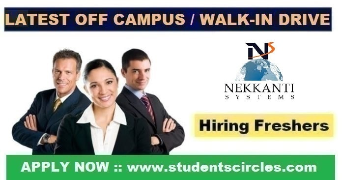 Nekkanti Systems Off Campus Drive 2020