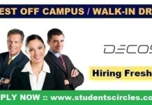 Decos Technology Off Campus Drive 2021