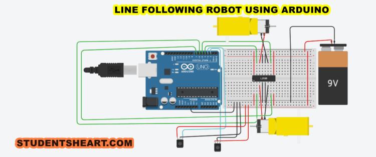 Line Following Robot Circuit Diagram
