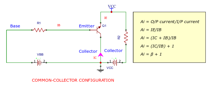 Circuit Diagram of Common Collector Configuration