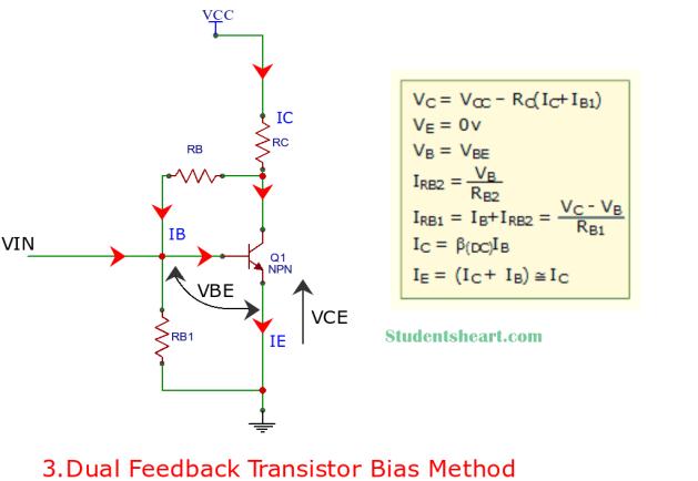 Dual Feedback Transistor bias circuit