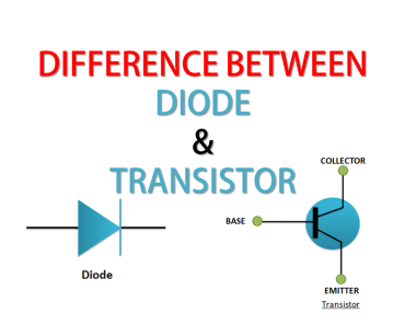 Difference between diode and transistor