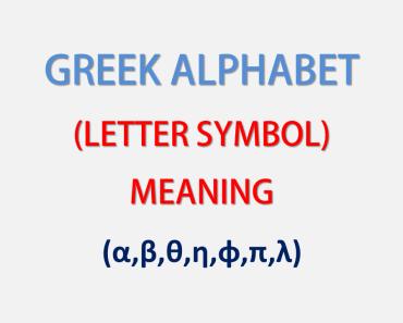 Greek Alphabet symbols