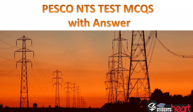 PESCO NTS Test MCQs with Answer for Electrical/Electronic Job in Pakistan 2020