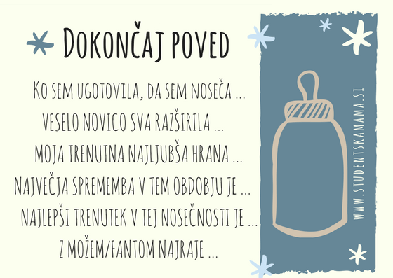 Baby shower igra: dokončaj poved