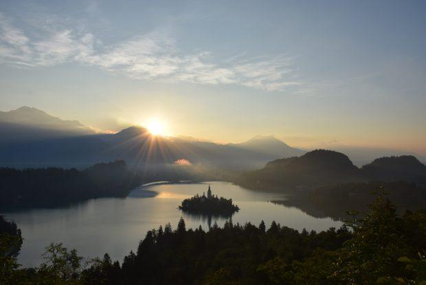 Sončni vzhod na Ojstrici