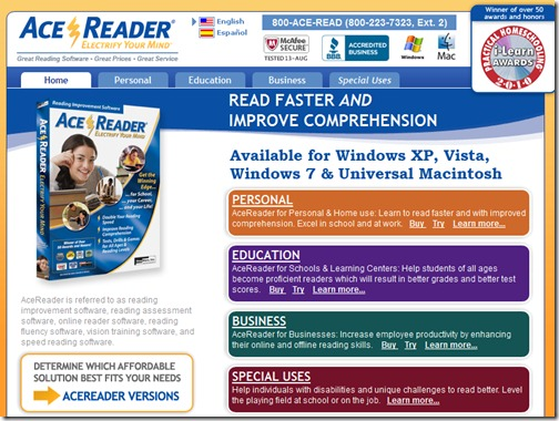 AceReader Online Reading Software