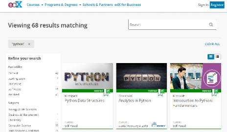 EDX Python Training