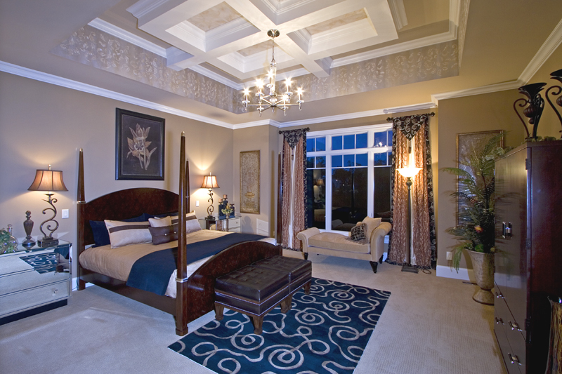 custom master bedrooms drawn by studer residential designs, inc.