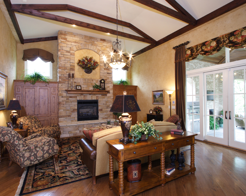 Hearth Room Photos In Custom House Plans By Studer