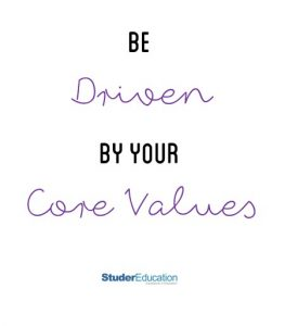 Be driven by your core values