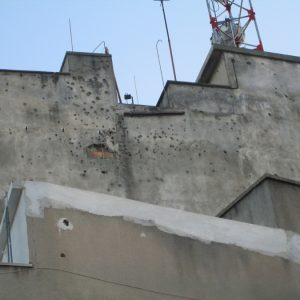 Bullets on Building from Turkish Invasion of Cyprus