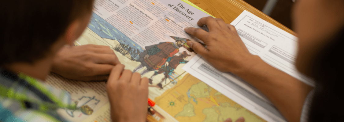 Students Using Studies Weekly to Understand History