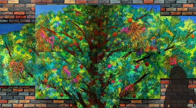 Présentation d'une de mes peintures : The tree of life
