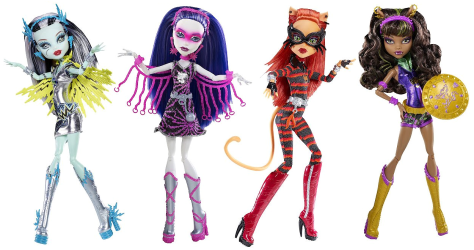 Exemples de poupées Monster High.