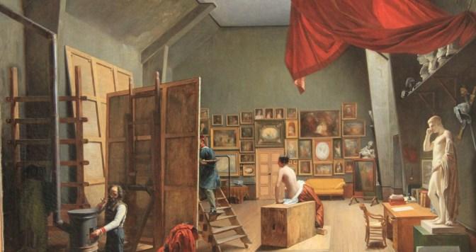 Visite de l'atelier d'un peintre : Abel de Pujol