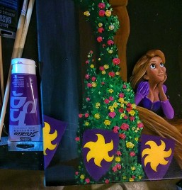 Work in progress : toile Raiponce/Tangled