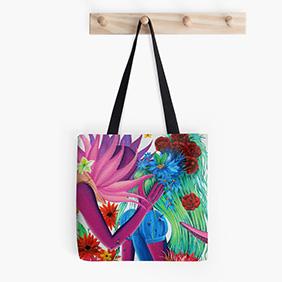Tote bag The Lovers par Studinano