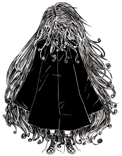 Faceless Girl au manteau