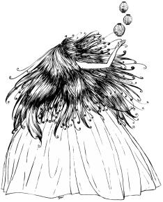 Lantern Princess (noir et blanc)