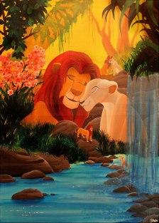 Simba et Nala (L'amour brille sous les étoiles) - Le Roi Lion