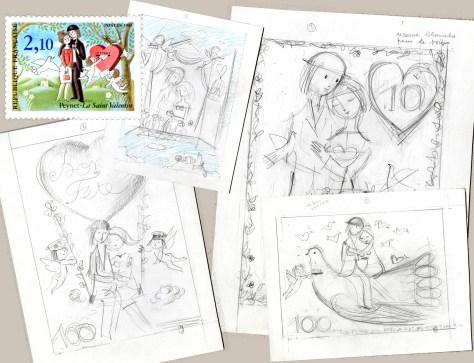 les-amoureux-de-peynet-dessin-art-saint-valentin-Adresse-Musee-de-La-Poste-timbre-philatelie