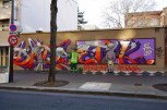 Seth & Babs, Titre inconnu Street art, 2013 76 rue Bobillot Paris 13e (75)