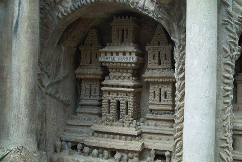 Palais idéal du Facteur Cheval, Hauterives, Drôme, France.  Détail : Le Temple Hindou