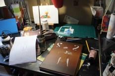 La Violoncelliste (Work in progress) Peinture acrylique sur toile 33 x 24 cm 2015