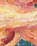 Très gros plan sur La Fuite des nymphes Henri-Edmond Cross (1856-1910) Vers 1906 Huile sur toile Paris, Musée d'Orsay Don de la comtesse de Vitali en souvenir de son frère le vicomte Guy Cholet, 1923
