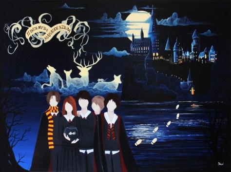 Au temps des Maraudeurs Peinture acrylique sur toile 33 x 24 cm 2015