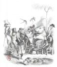 Estampe issue de Scènes de la vie privée et publique des animaux de J.J. Grandville.