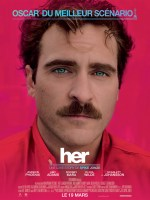 "Affiche du film de science-fiction ""Her"" de 2014."