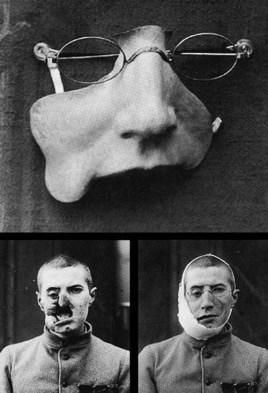 Masques réalisés par le studio d'Anna Coleman Ladd.