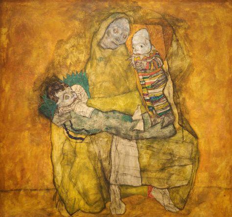 Egon Schiele, Mère avec deux enfants, huile sur toile, 1915, Leopold Museum, Vienne.