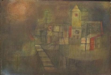 Paul Klee, Petit village sous le soleil d'automne, Huile sur carton, 1925, Musée d'art du comté de Los Angeles (LACMA), Etats-Unis.