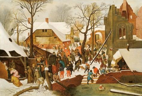 Pieter Bruegel le Jeune, L'Adoration des Mages dans un paysage de neige (ou dans un paysage d'hiver), Huile sur bois, 36 x 57 cm, n.d., Collection particulière, France.