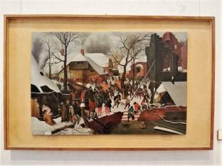 Pieter Brueghel le Jeune (1564-1638), l'Adoration des mages dans un paysage de neige, n.d., huile sur bois, Musée Correr, Venise. (Photos personnelles.)