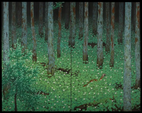 Katayama Bokuyo, Mori (Forêt), Encre sur soie, 1928, 189,23 x 237,49 cm, Minneapolis Institute of Art (Etats-Unis).