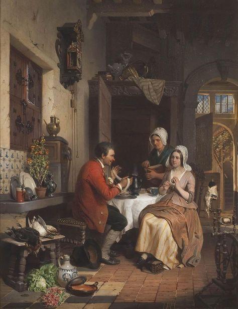 David De Noter, Intérieur de cuisine, Huile sur toile, 76 x 58 cm, 1845, Collection Rademakers.