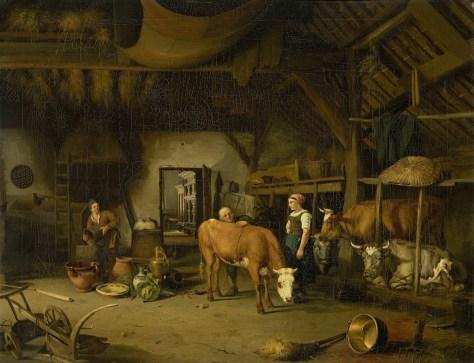 James de Rijk, Intérieur de paysan, Huile sur toile, 58 x 72 cm, v.1830-1860, Rijksmuseum, Amsterdam, Pays-Bas.