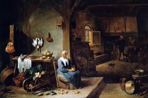 David Teniers le Jeune, Intérieur d'une habitation paysanne