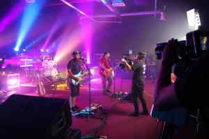 live performance music video being filmed