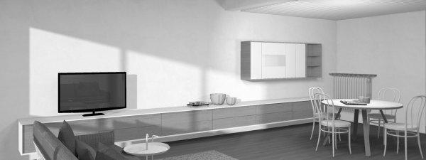 residentieel interieur 03 • wandmeubel leefruimte