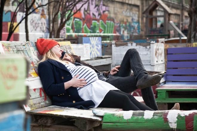 Paar, Schwangerschaft, Babybauch