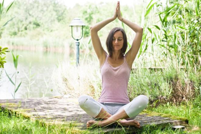 Porträt, Yoga, Outdoor