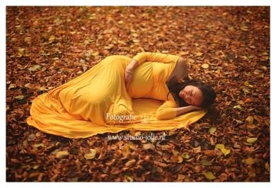 Mosterd gele jurk