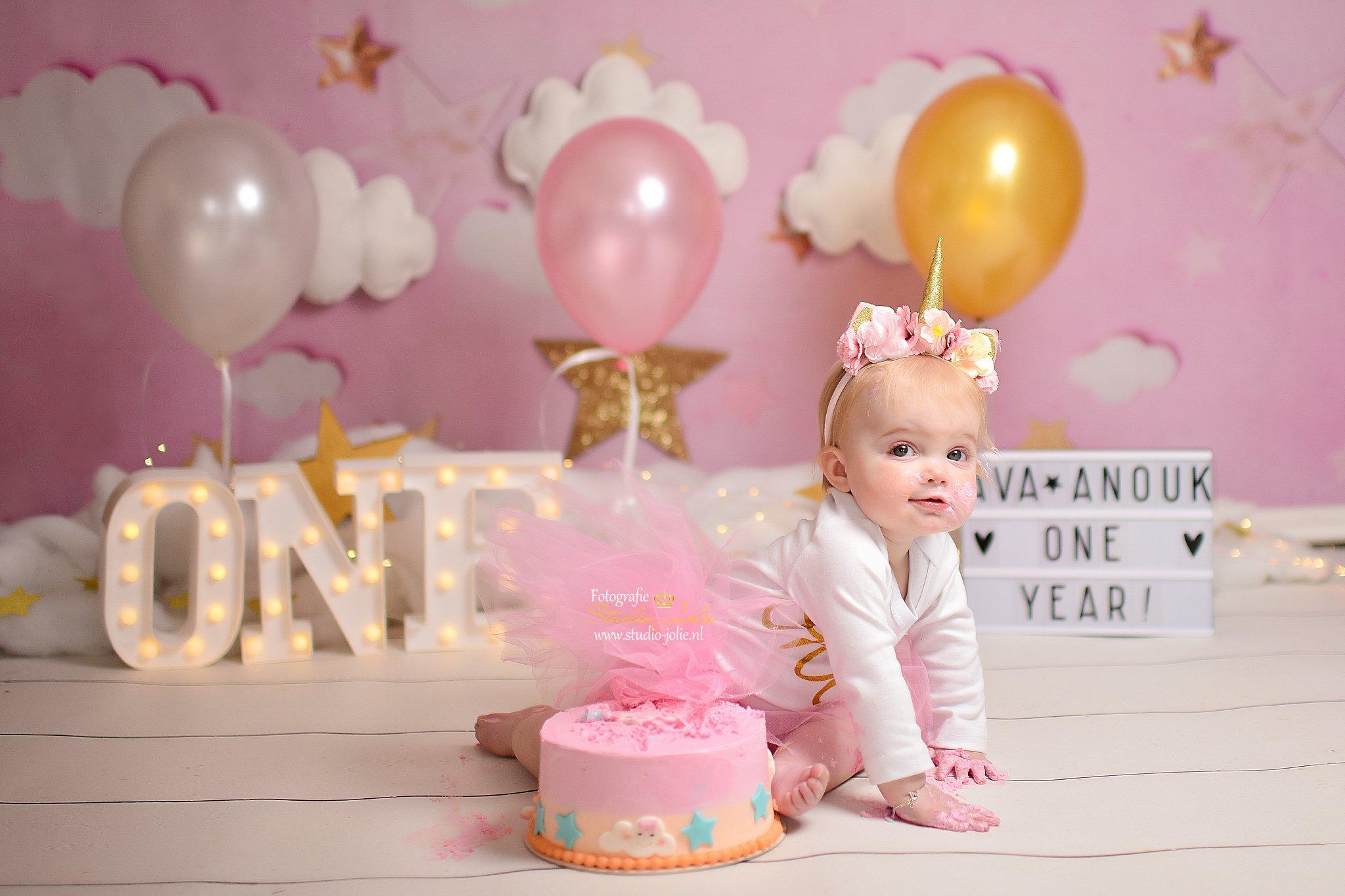 eerste verjaardag fotoshoot baby