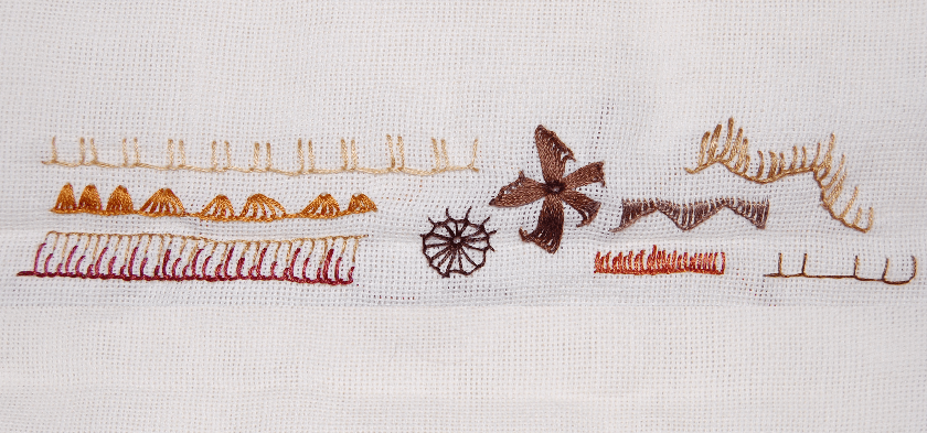embroidery buttonhole stitch festonsteek